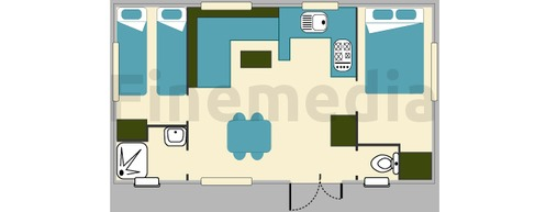 Plan de mobil home central