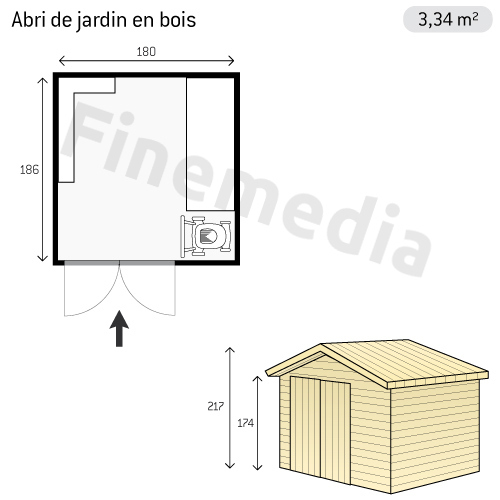 photo abri de jardin plan abri de jardin en bois. Black Bedroom Furniture Sets. Home Design Ideas