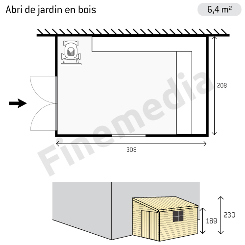 plan cabane de jardin en bois gratuit de jardin en bois gratuit plan abri de jardin en bois. Black Bedroom Furniture Sets. Home Design Ideas