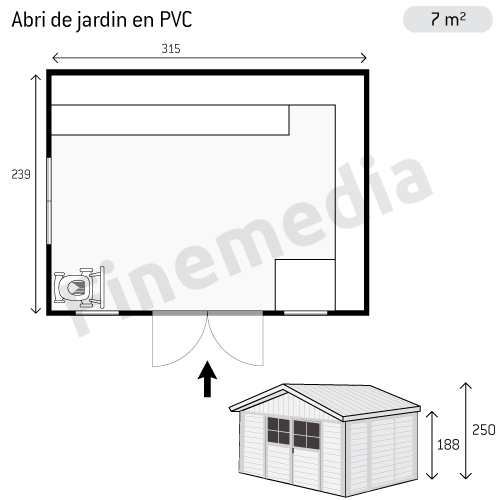 photo abri de jardin plan abri de jardin en pvc. Black Bedroom Furniture Sets. Home Design Ideas