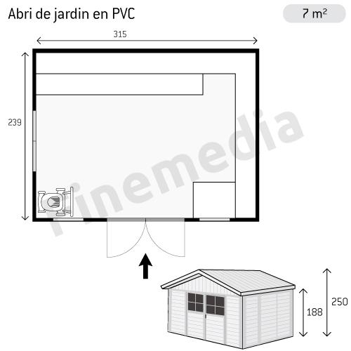 photo abri de jardin plan abri de jardin en pvc. Black Bedroom Furniture Sets. Home Design Ideas