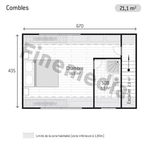photo combles plan de combles rectangulaires. Black Bedroom Furniture Sets. Home Design Ideas