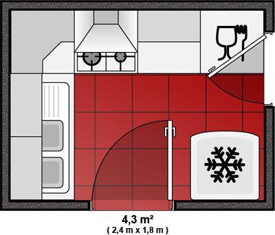 photo cuisine plan de cuisine en l. Black Bedroom Furniture Sets. Home Design Ideas