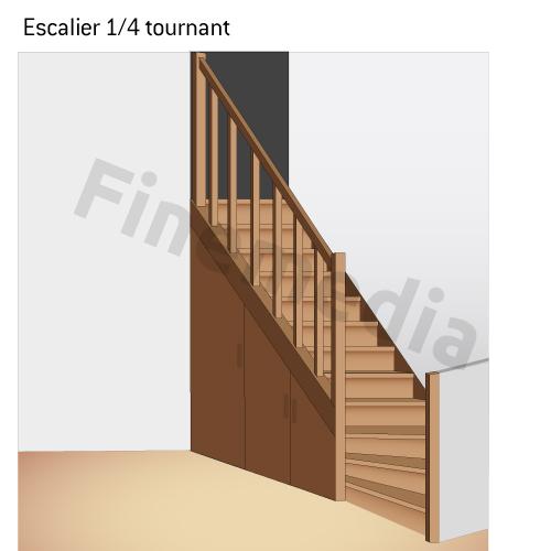 Photo escalier plan escalier for Plan escalier 1 4 tournant