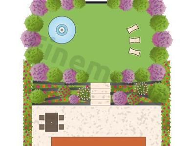 Plan jardin zen