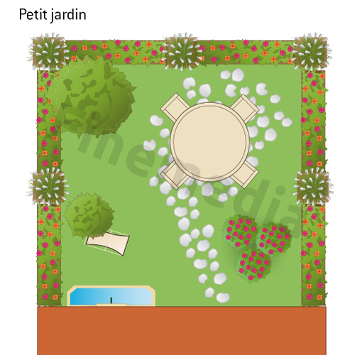 Un petit verger en ville de 50 m2 et m me 30 m2 plan for Petit jardin rectangulaire