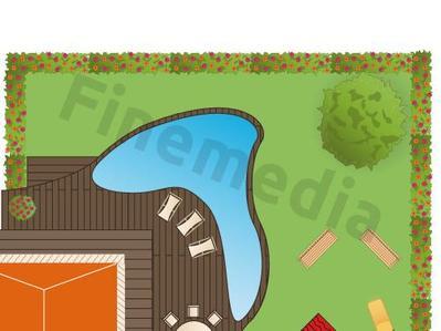 Am nager un jardin avec piscine ooreka for Plan d amenagement exterieur gratuit