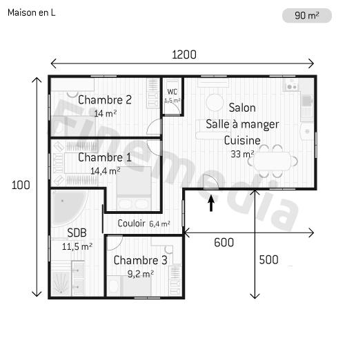 Maison en bois tout savoir sur les maisons en bois for Surface moyenne maison