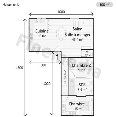 Construction de maison tout savoir pour construire sa maison for Plan de maison en l