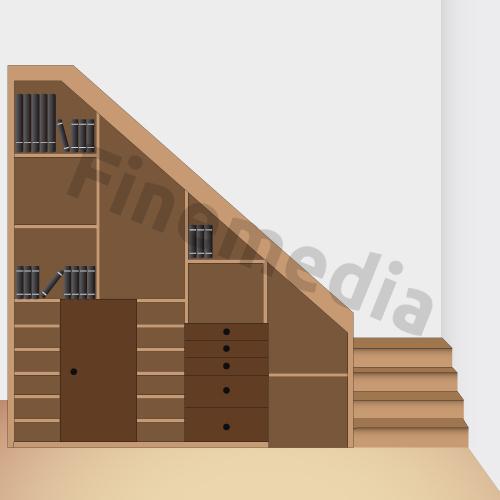 Fotos plan de placard rangement sous escalier plan de - Rangement sous escalier leroy merlin ...