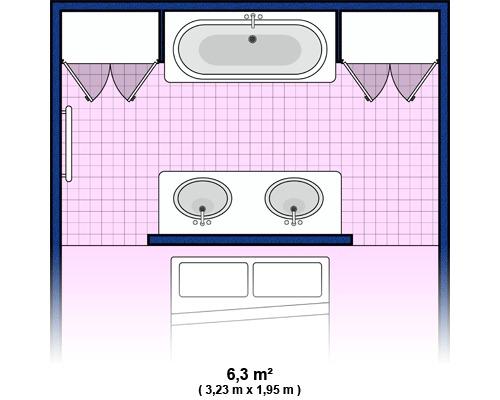 ... de la salle de bain : Plan de salle de bain : moyenne salle de bain