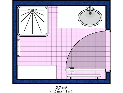 Salle de bain accessoires et meubles de salle de bain - Salle de bain en longueur plan ...