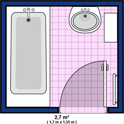 Salle de bain accessoires et meubles de salle de bain for Plan petite salle de bain