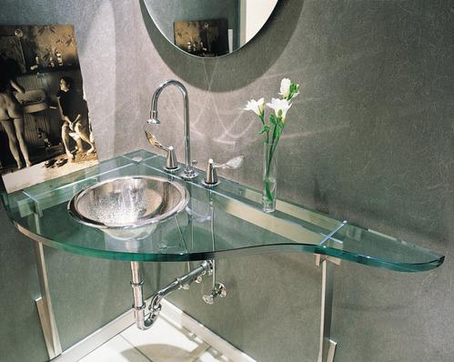 transparent - Lavabo Salle De Bain En Verre