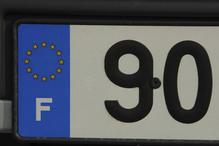 Plaque matricule france chiffre