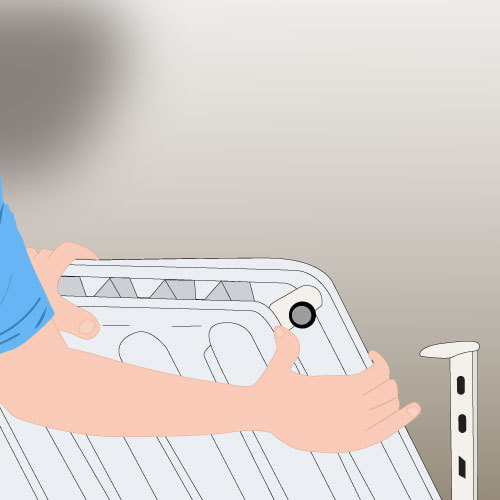 Désolidarisez le radiateur de l'installation