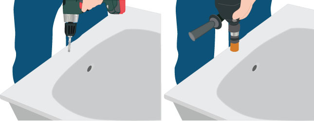 Percer une baignoire salle de bain - Pose baignoire acrylique ...