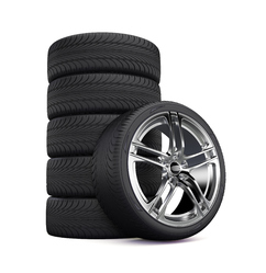 Pile pneus fond blanc
