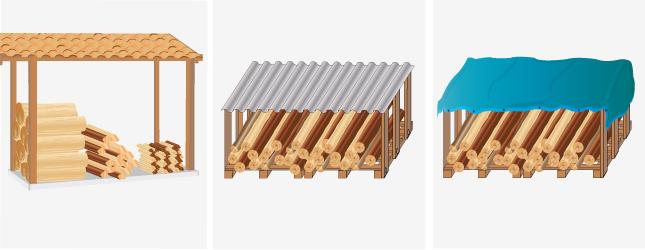 Conserver et stocker son bois de chauffage po le chemin e - Comment stocker bois de chauffage ...
