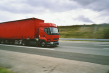 Gros camion rouge