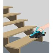 Poncer un escalier ponceuse for Poncer un escalier vernis