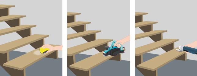 poncer un escalier - ponceuse