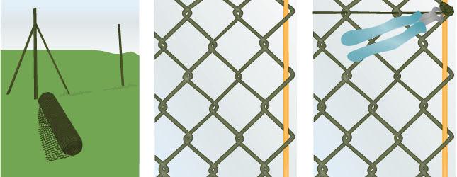 Installer cloture grillage barriere de jardin bois | Exoteck