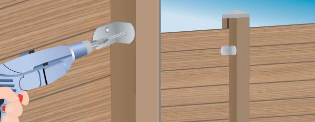 poser des palissades en bois sur un mur portail cl ture. Black Bedroom Furniture Sets. Home Design Ideas