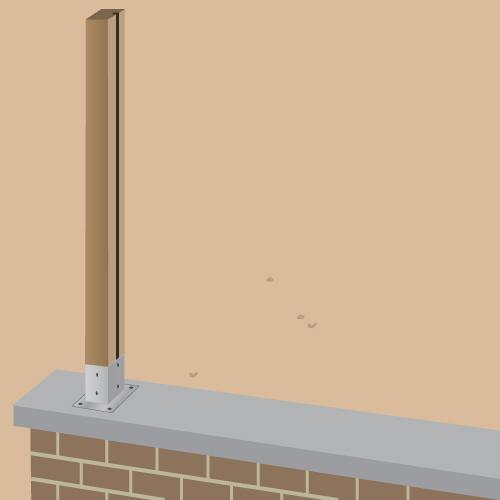 Poser des palissades en bois sur un mur - Portail Clôture
