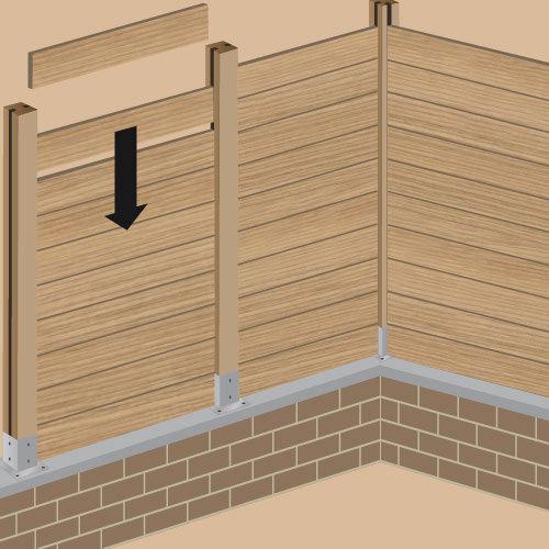 poser des palissades en bois sur mesure ooreka. Black Bedroom Furniture Sets. Home Design Ideas