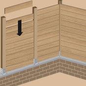 poser des palissades en bois sur mesure portail cl ture. Black Bedroom Furniture Sets. Home Design Ideas