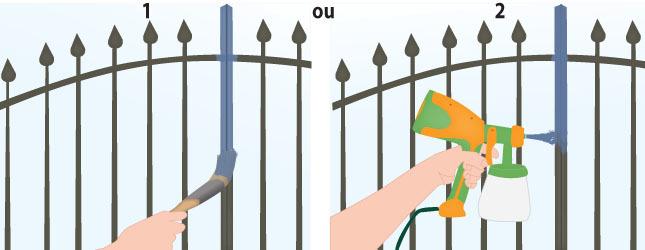 Peindre un portail en fer forg portail cl ture for Peinture sur fer forge