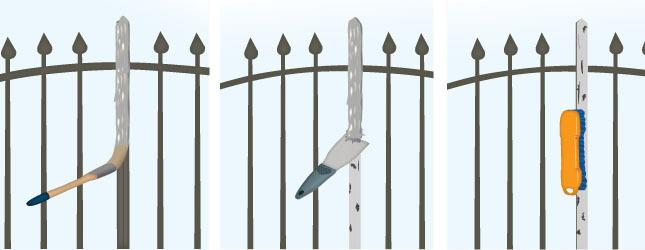 Peindre un portail en fer forg portail cl ture for Dessin de portail en fer forge