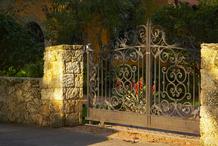 La clôture et le portail de la maison