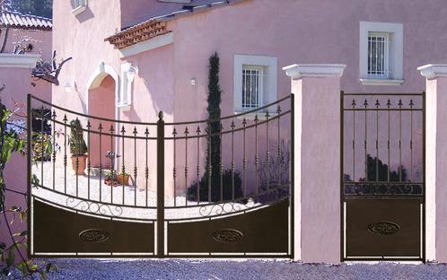 portail fer avantages et prix du portail en fer forg. Black Bedroom Furniture Sets. Home Design Ideas