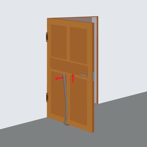 Dégonder une porte