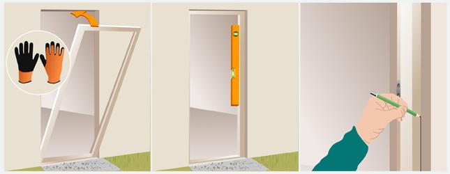 Installer une porte d 39 entr e porte for Dormant porte d entree