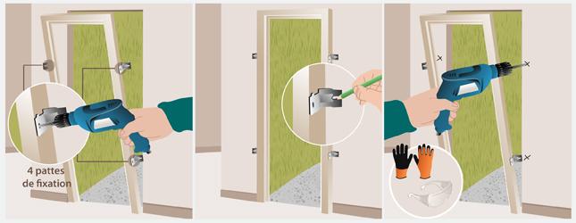 Installer une porte d 39 entr e porte - Comment fixer un bloc porte ...