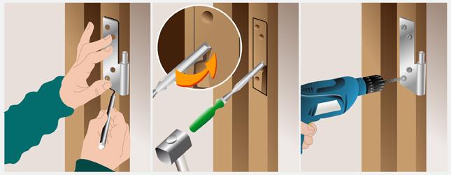 Changer le sens d ouverture d une porte porte - Comment fabriquer une porte en acier ...