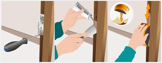 Retirer les gonds d 39 une porte porte - Faire un encadrement de porte ...