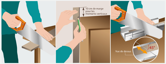 Poser un chambranle porte - Cache montant de porte ...