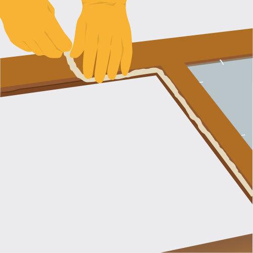Poser un vitrage sur une porte int rieure porte for Rendre une vitre opaque