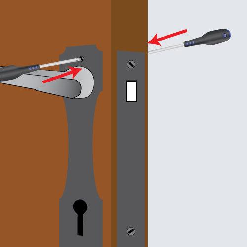 Poser une poignée de porte