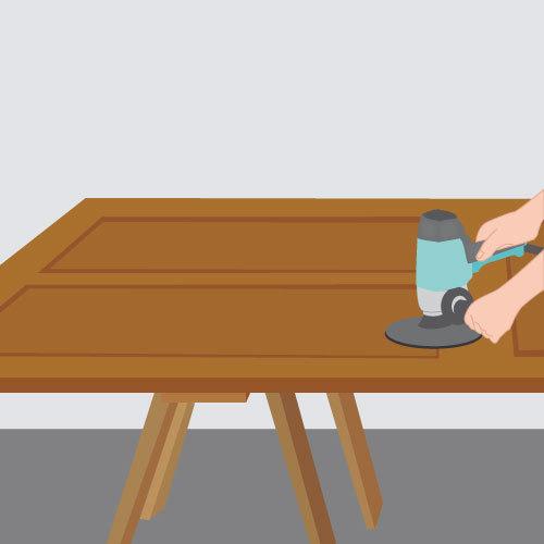 poncer une porte ponceuse. Black Bedroom Furniture Sets. Home Design Ideas
