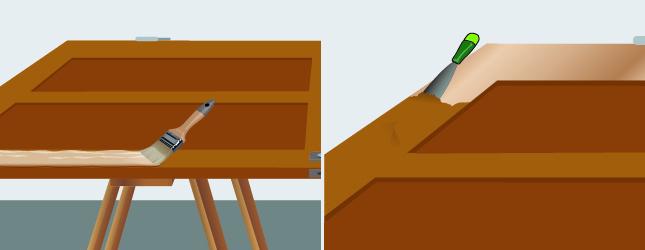 Méthode 1 : Décapez la porte avec du décapant chimique