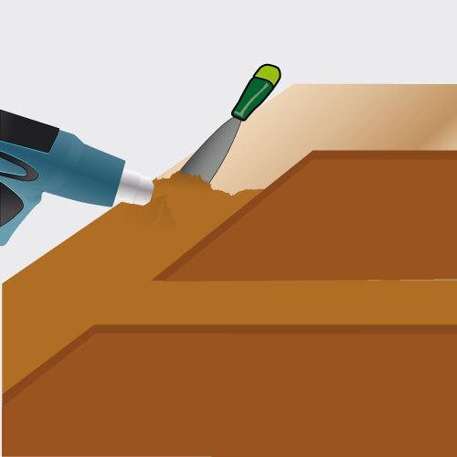 Méthode 2 : Décapez la porte avec un décapeur thermique