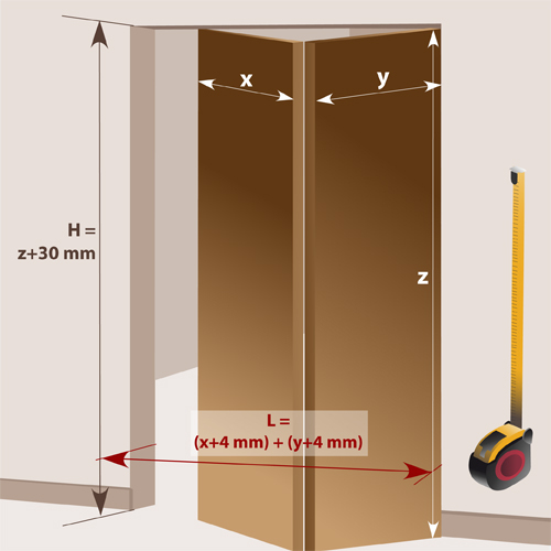 Installer une porte pliante en bois porte for Fabriquer une porte de garage 4 vantaux