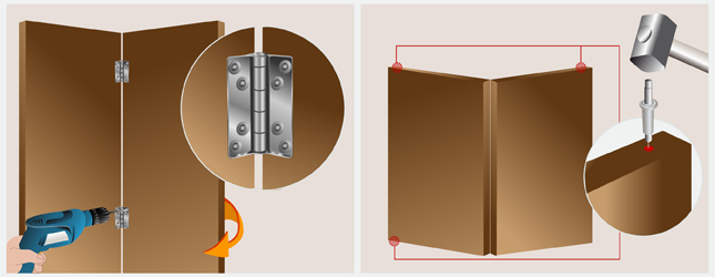 Installer une porte pliante en bois porte for Montage porte accordeon