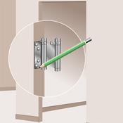 installer une porte battante porte. Black Bedroom Furniture Sets. Home Design Ideas
