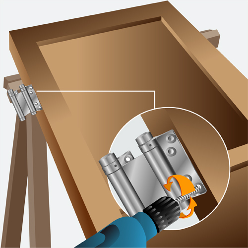 Installer une porte battante porte - Comment fabriquer une porte en acier ...